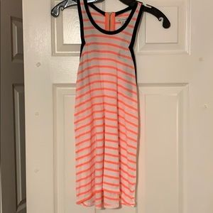 AE orange strip tank with zipper on back